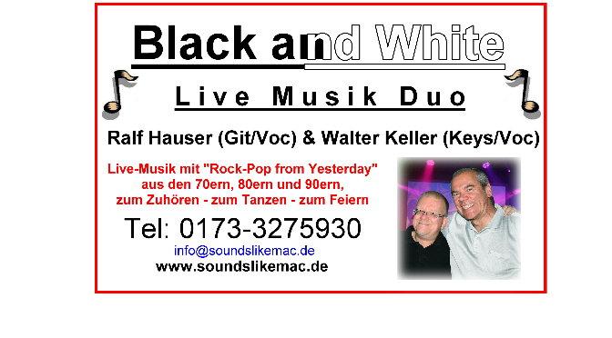 """Eine eigene Visitenkarte für das """"Black and White"""" Duo…"""